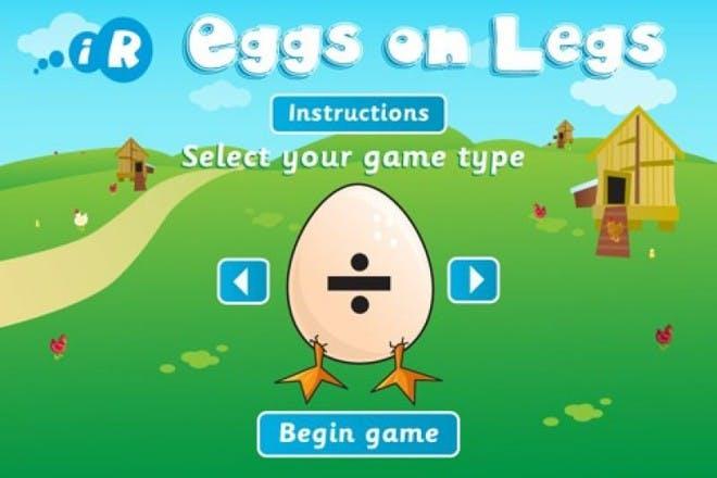 eggs on legs app