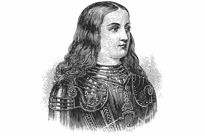 Portrait of Joan of Arc in armour