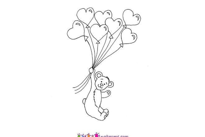 Flying teddy Valentine's card