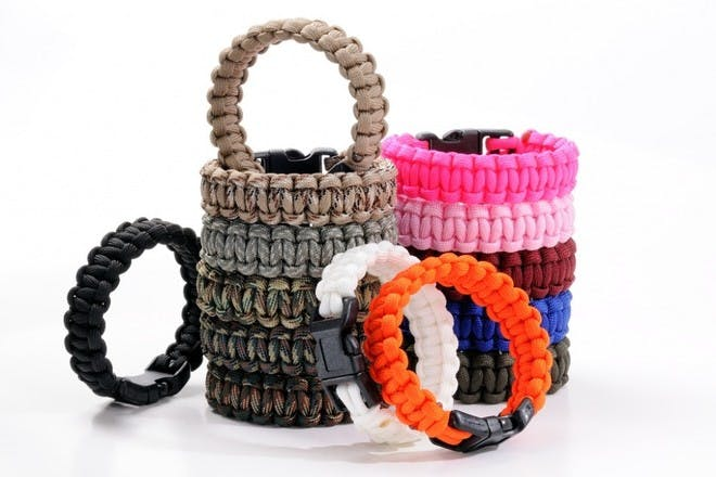 32. Make cool paracord bracelets