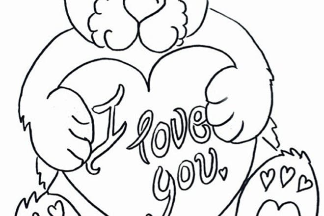'I love you' teddy Valentine's card