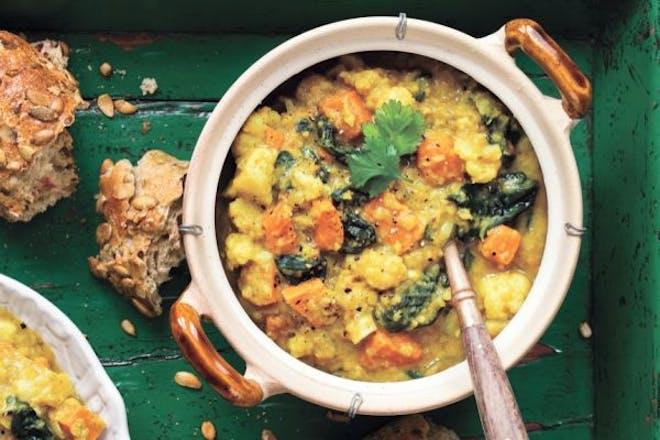 Indian lentil cauliflower soup