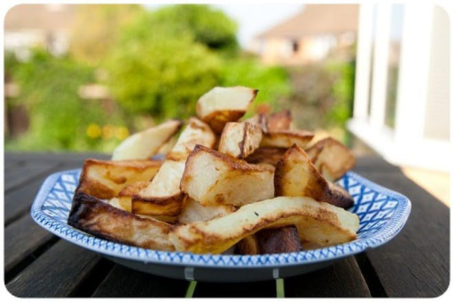 homemade chips on a plate