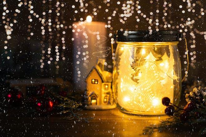 Winter jar scene