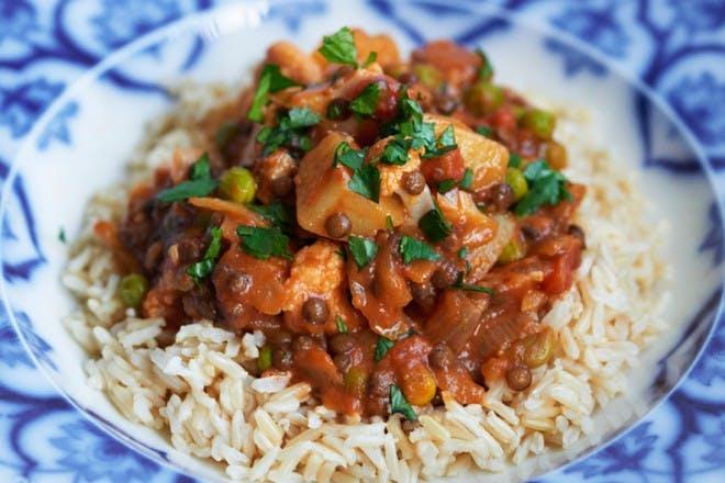 Kids' veggie curry