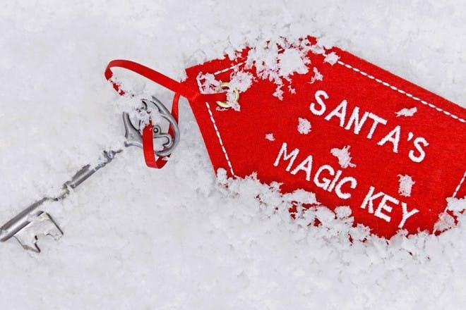 magic key in snow