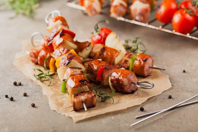 19. Sausage and bacon kebabs
