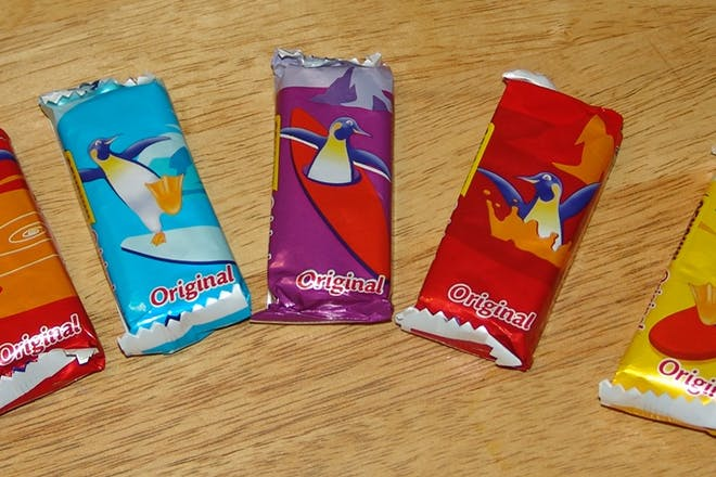 Selection of penguin biscuits