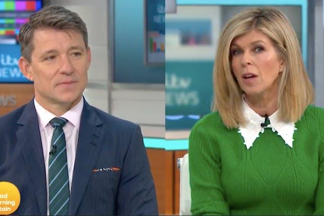 Ben Shephard and Kate Garraway talking on ITV's GMB