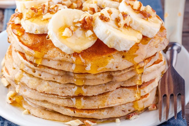 7. Pancakes with banana and honey