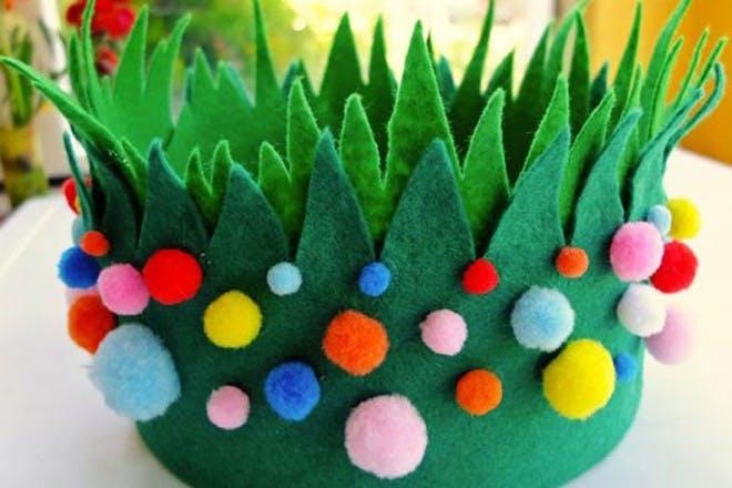 grass easter bonnet