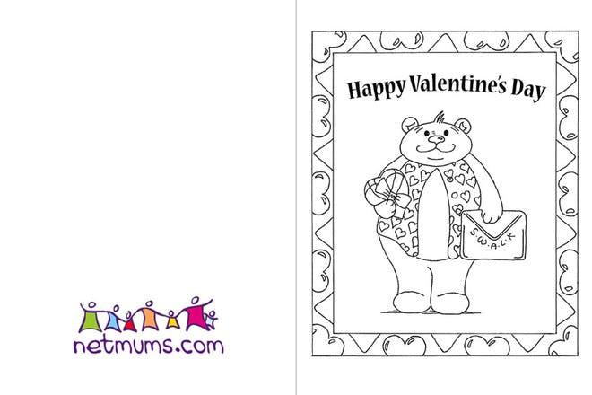 Bear Valentine's card