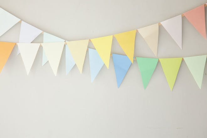 13. Homemade bunting