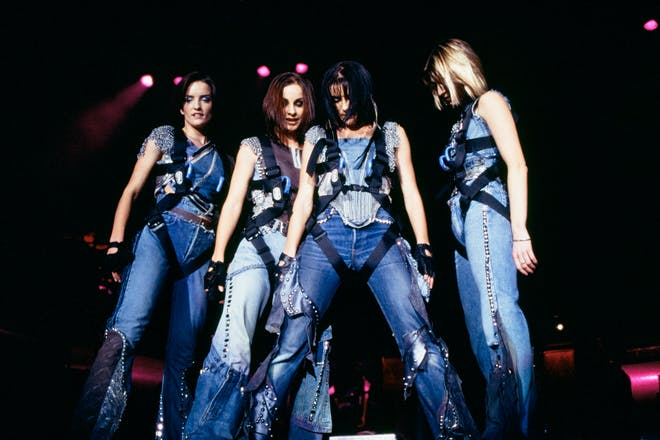 B*witched girl group performing on stage