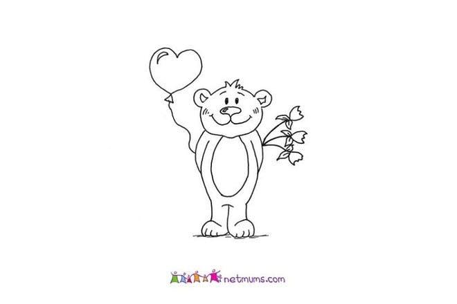 Cute bear Valentine's card