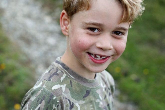 Prince george in camouflage on 7th birthday