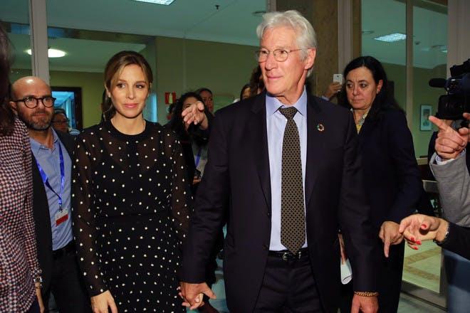 10. Richard Gere and Alejandra Silva