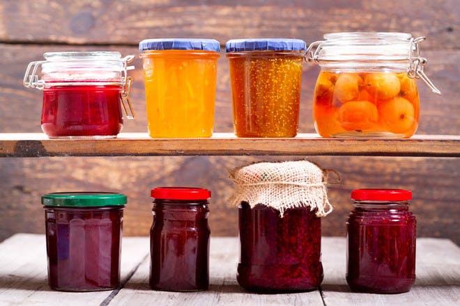 homemade jams and chutneys