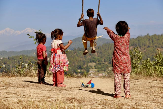 children in nepal