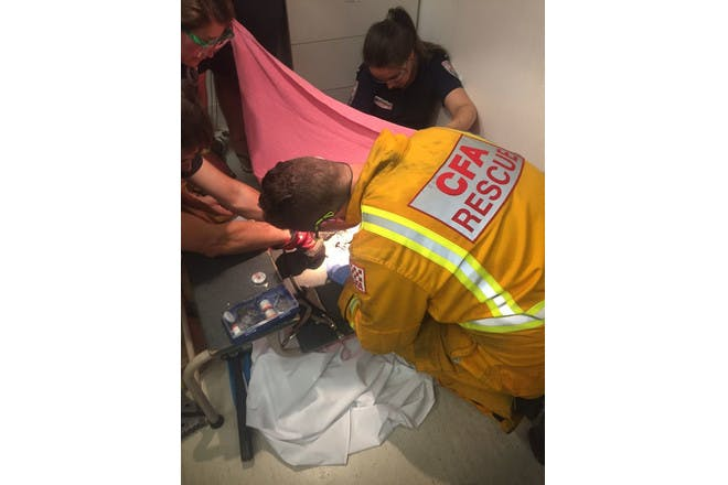 Toddler rescued from bath drain
