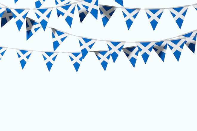 Scottish flag bunting