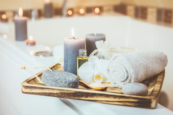 2. Create an at-home Valentine's Day spa