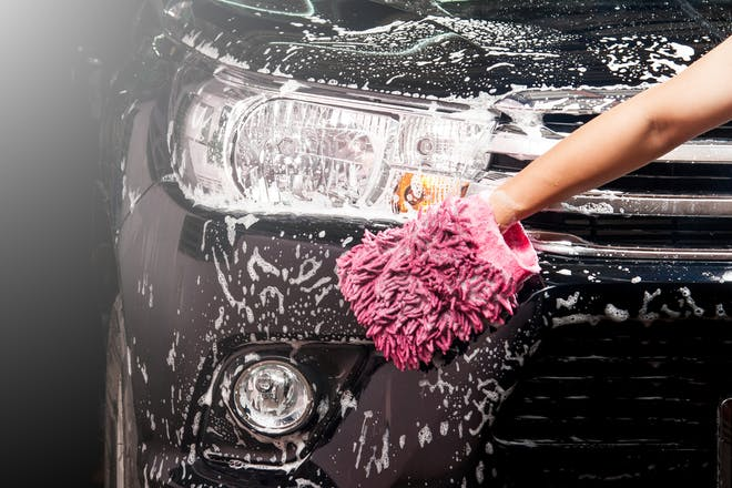 Cleaning car