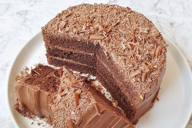 Bruce Bogtrotter's chocolate cake