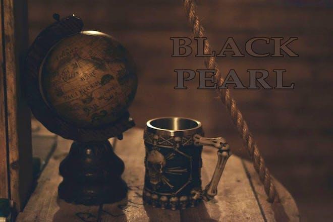 Globe and pirate flagon