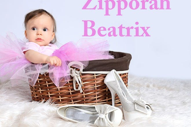 baby girl in basket with tutu