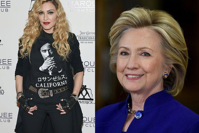 12. Madonna and Hillary Clinton