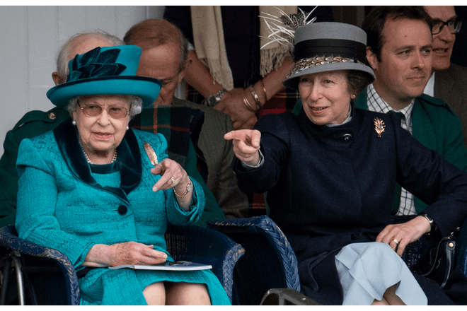 The Queen and Princess Anne