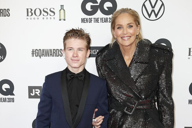 Sharon Stone and son