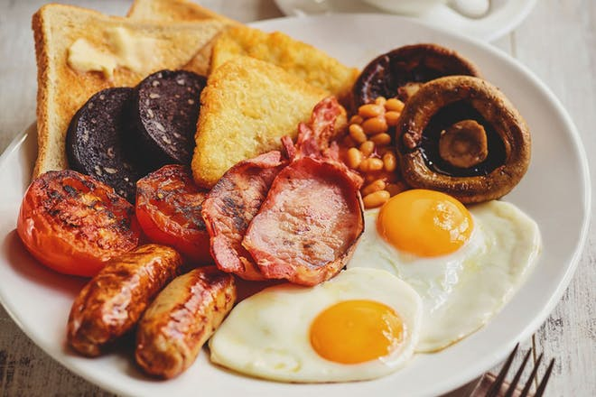 Large full English breakfast