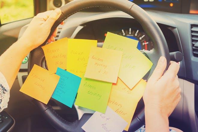 car post-it notes