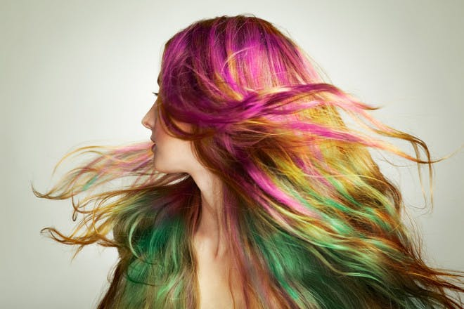 9. Experimenting with colours in your hair