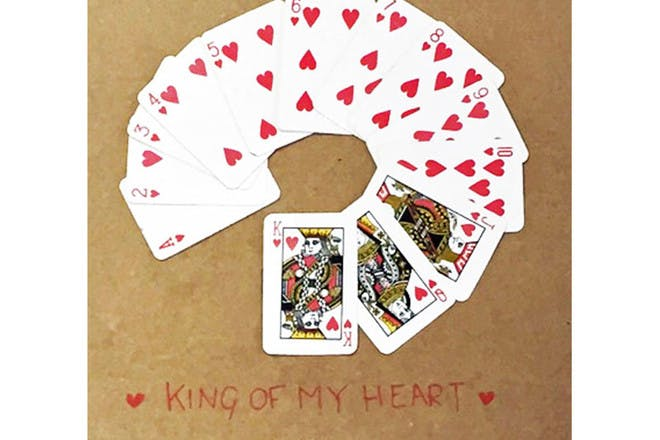 Playing cards Valentine's Day card