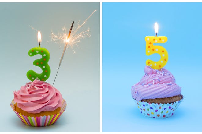 Birthday candles, 3 and 5
