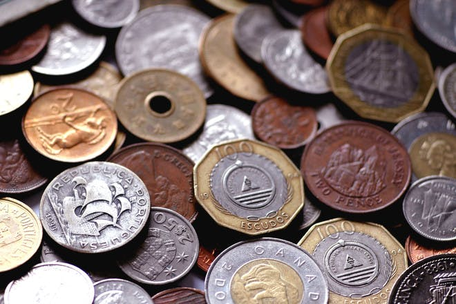Random foreign coins