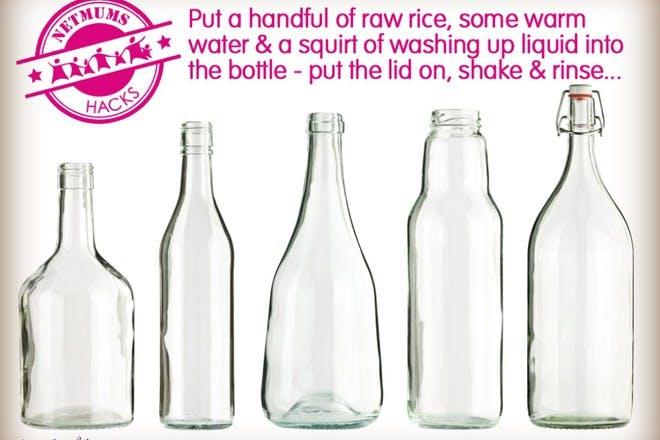 empty glass bottles