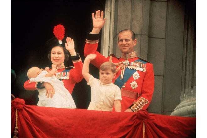 The Queen, Prince Philip, Prince Andrew and Prince Edward