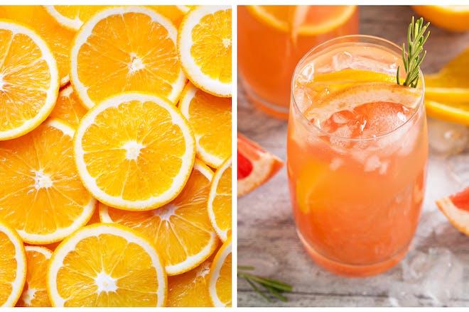 Oranges / orange-flavoured gin
