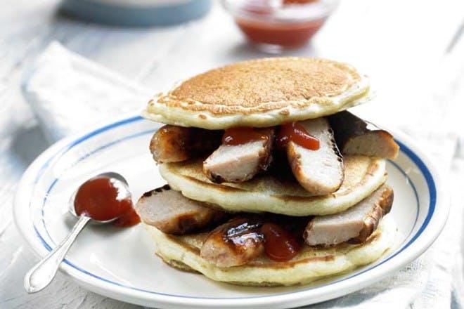 american sausage pancakes