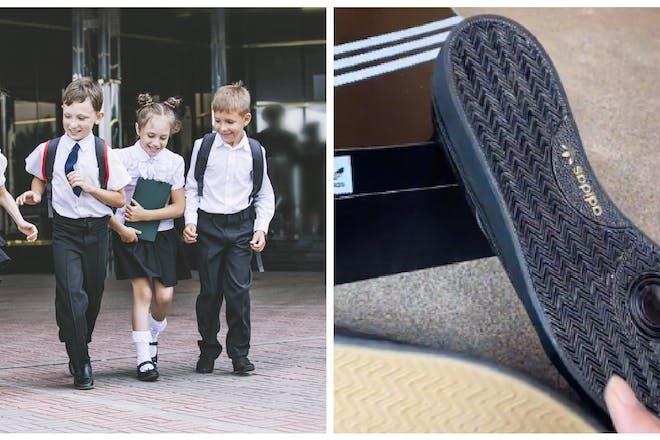 School children / school shoe hack
