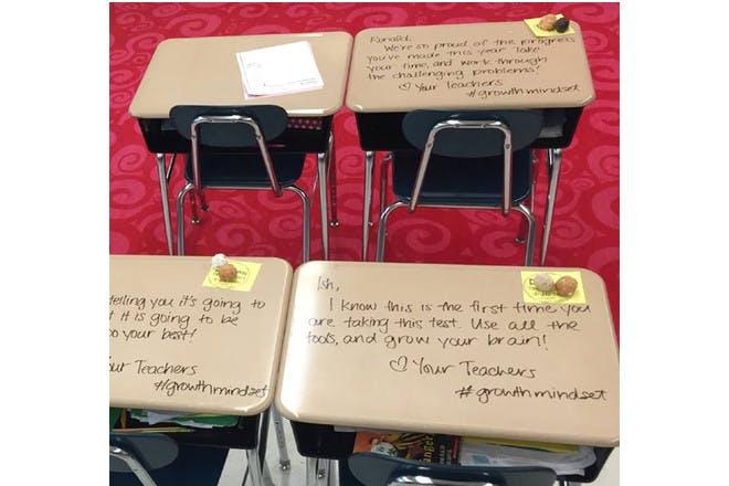 messages on desks