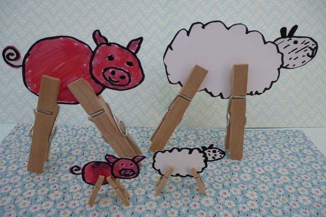 Peg leg baby animals