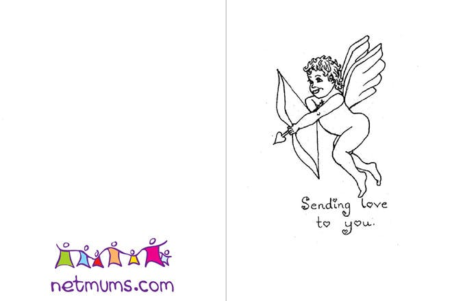 Cupid Valentine's card