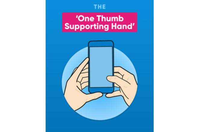 One thumb supporting hand