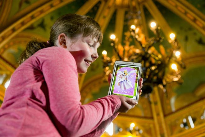 Finding augmented reality fairies at Castell Coch, Cardiff