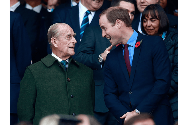 Prince Philip and William